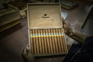eine Kiste Cohiba Zigarren